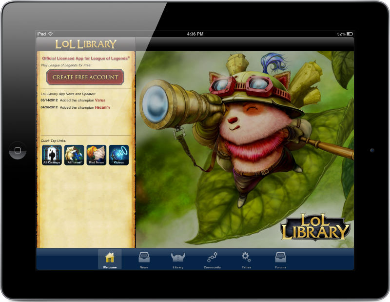 Lol Library League Of Legends Mobile App Iphone Ipad Android