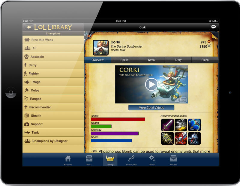 Lol Library: League Of Legends Mobile App