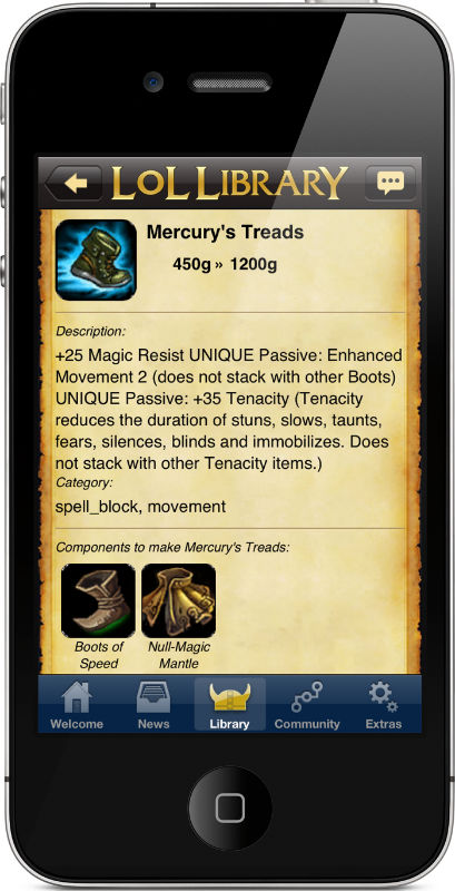 Lol Library: League of Legends Mobile App | iPhone, iPad, & Android